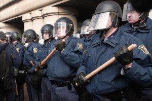 Michigan Legislature hiding behind riot police