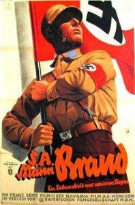 nazi holding flag