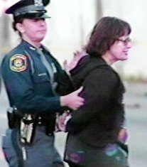 Voice of Detroit Editor Diane Bukowski being arrested in 2008 for being a reporter