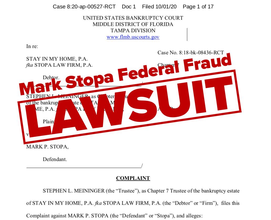 Disbarred Lawyer Mark Stopa